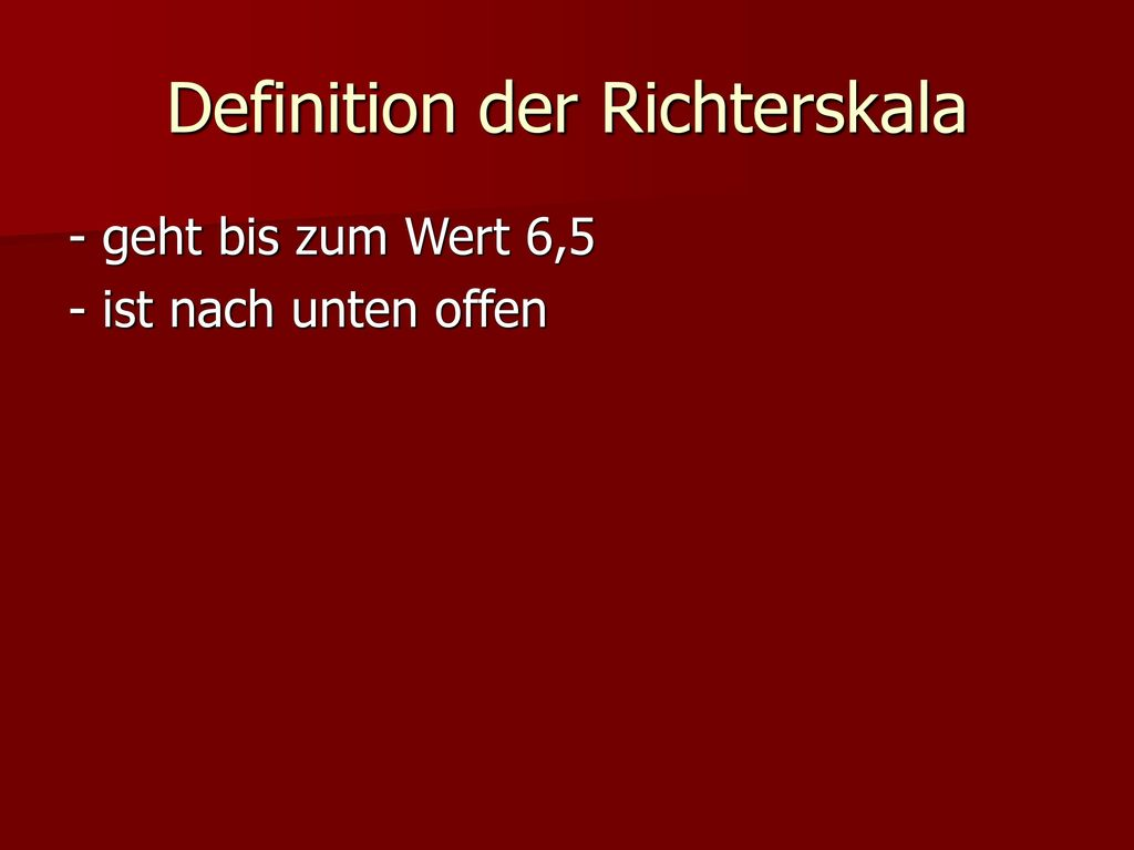 Definition der Richterskala