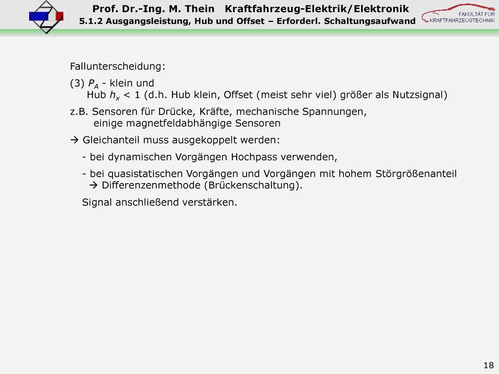 5.1.2 Ausgangsleistung, Hub und Offset – Erforderl. Schaltungsaufwand