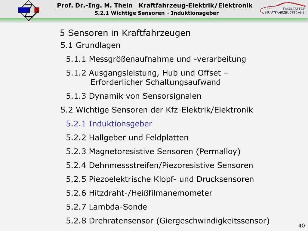 5.2.1 Wichtige Sensoren - Induktionsgeber