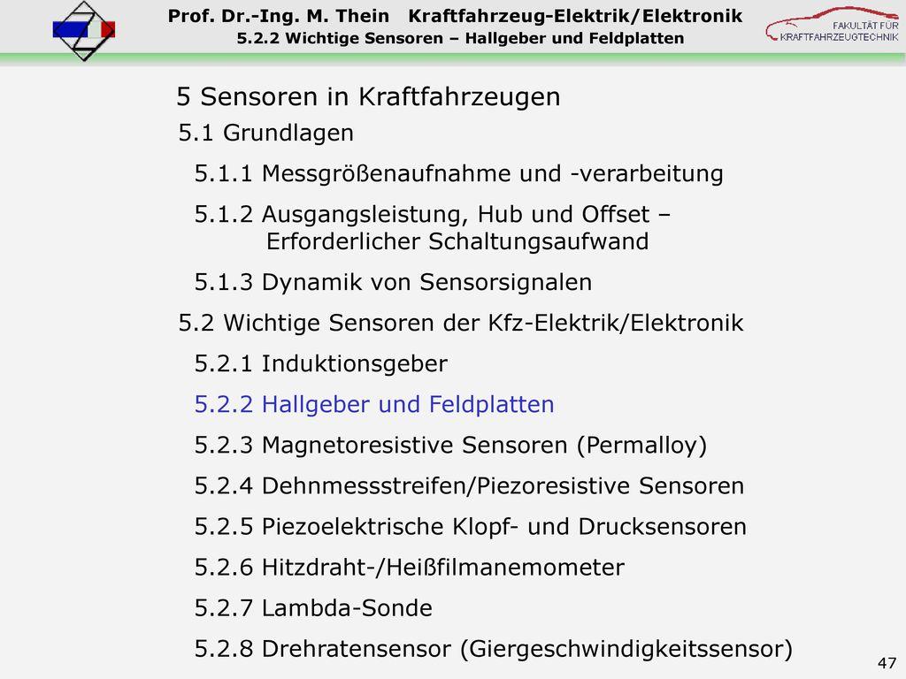 5.2.2 Wichtige Sensoren – Hallgeber und Feldplatten