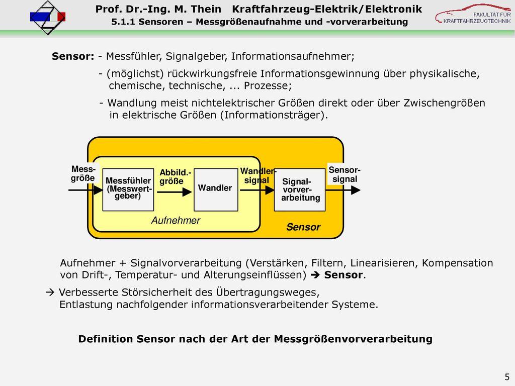 5.1.1 Sensoren – Messgrößenaufnahme und -vorverarbeitung