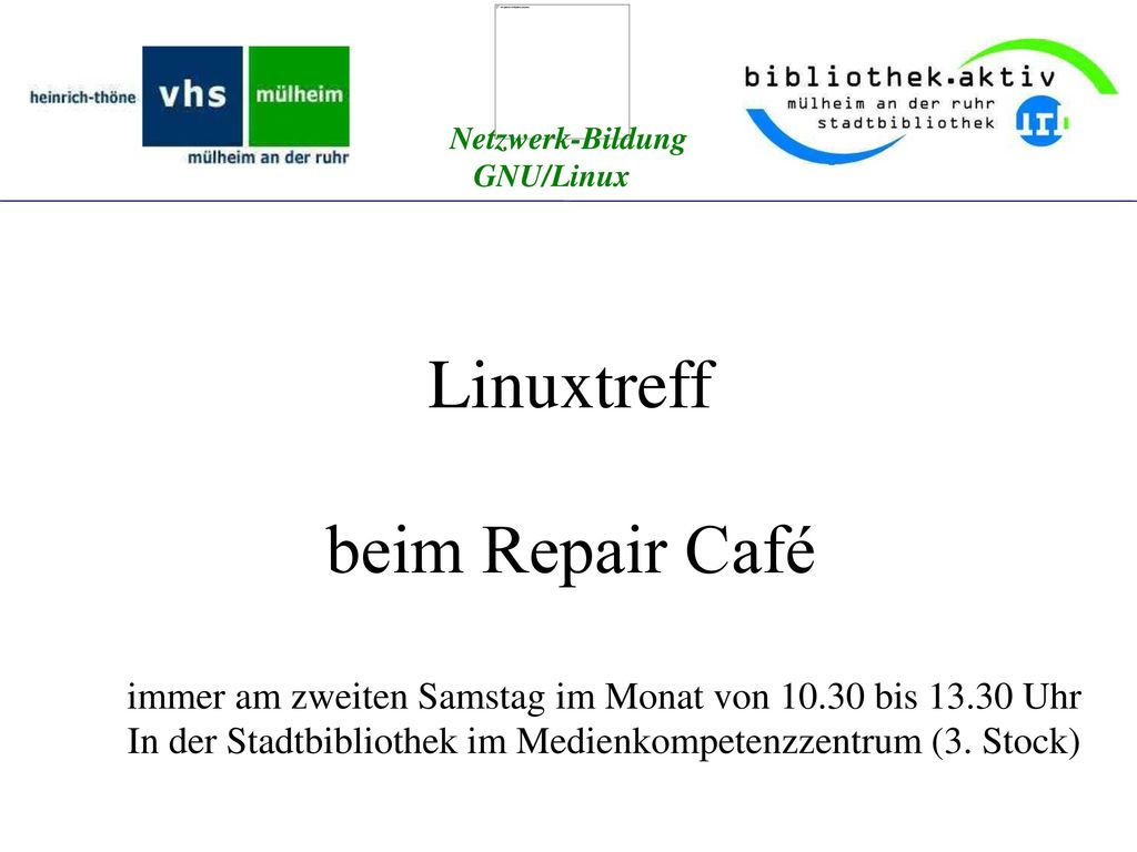 Linuxtreff beim Repair Café