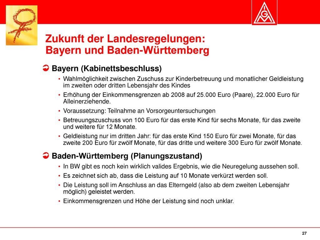 Zukunft der Landesregelungen: Bayern und Baden-Württemberg