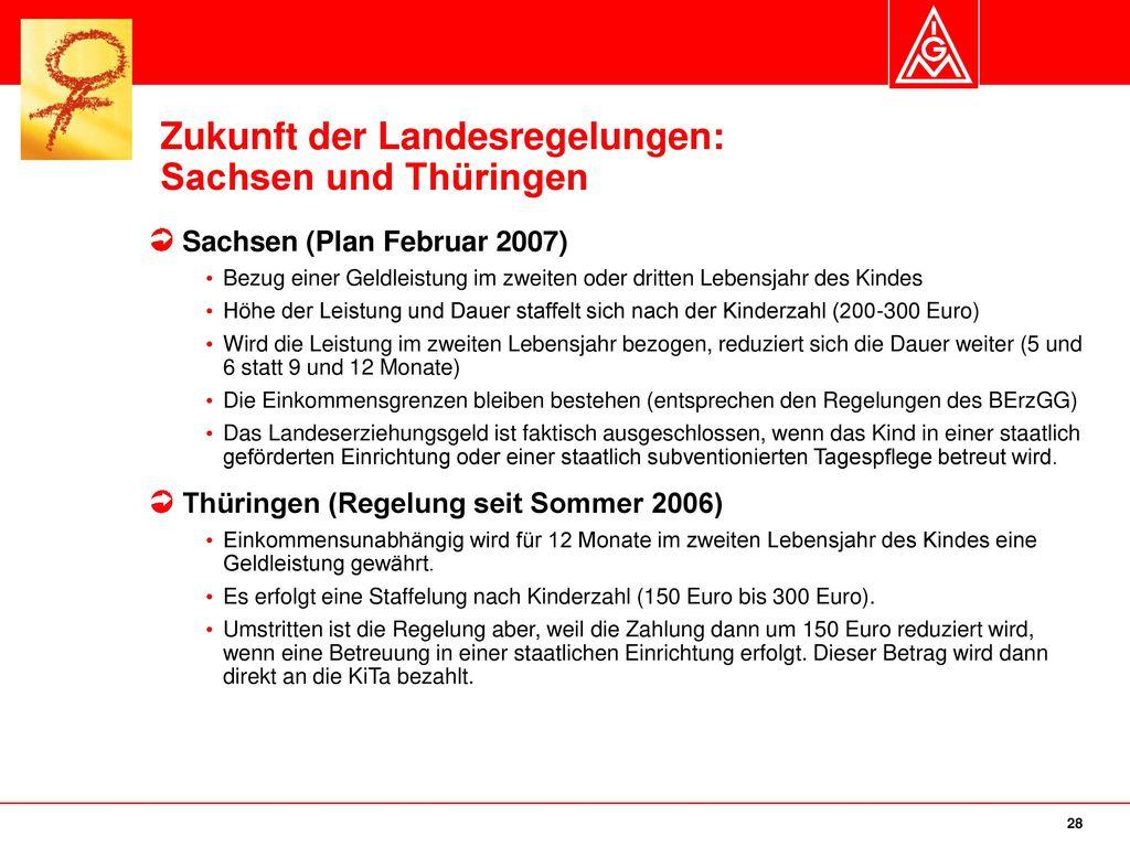Zukunft der Landesregelungen: Sachsen und Thüringen