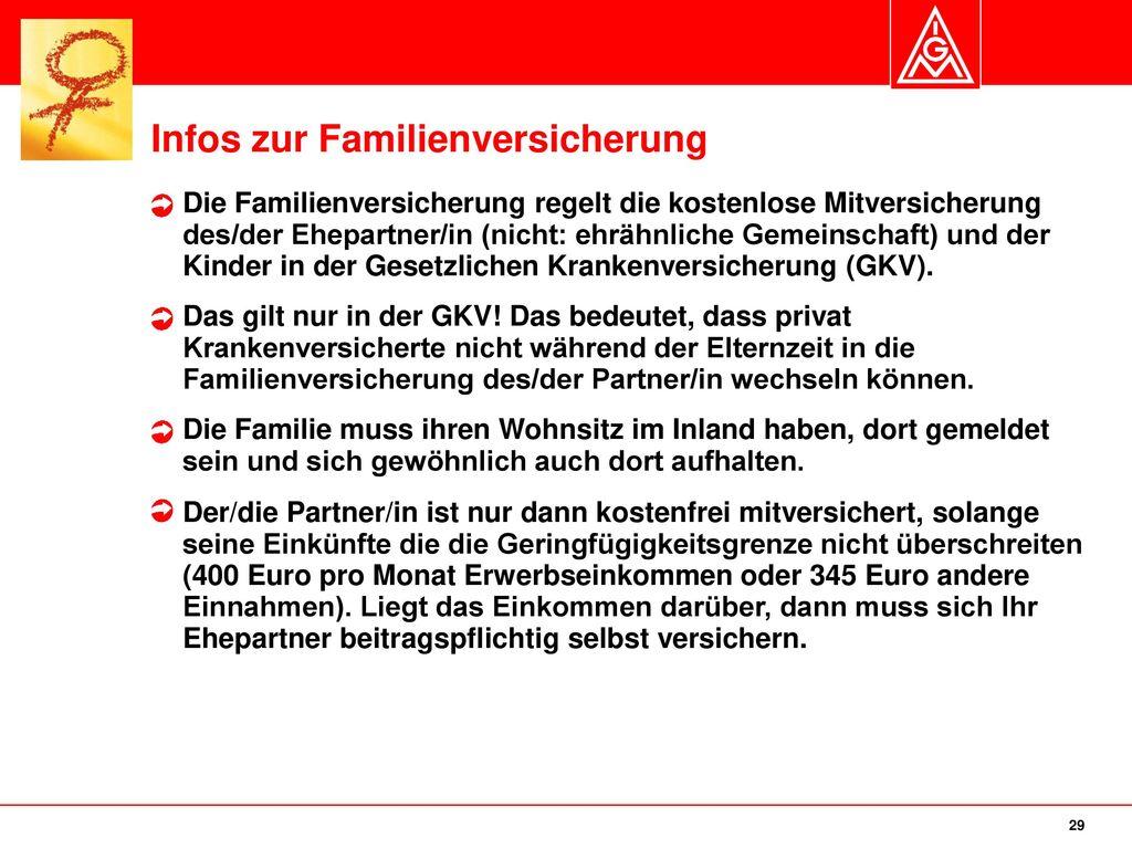 Infos zur Familienversicherung