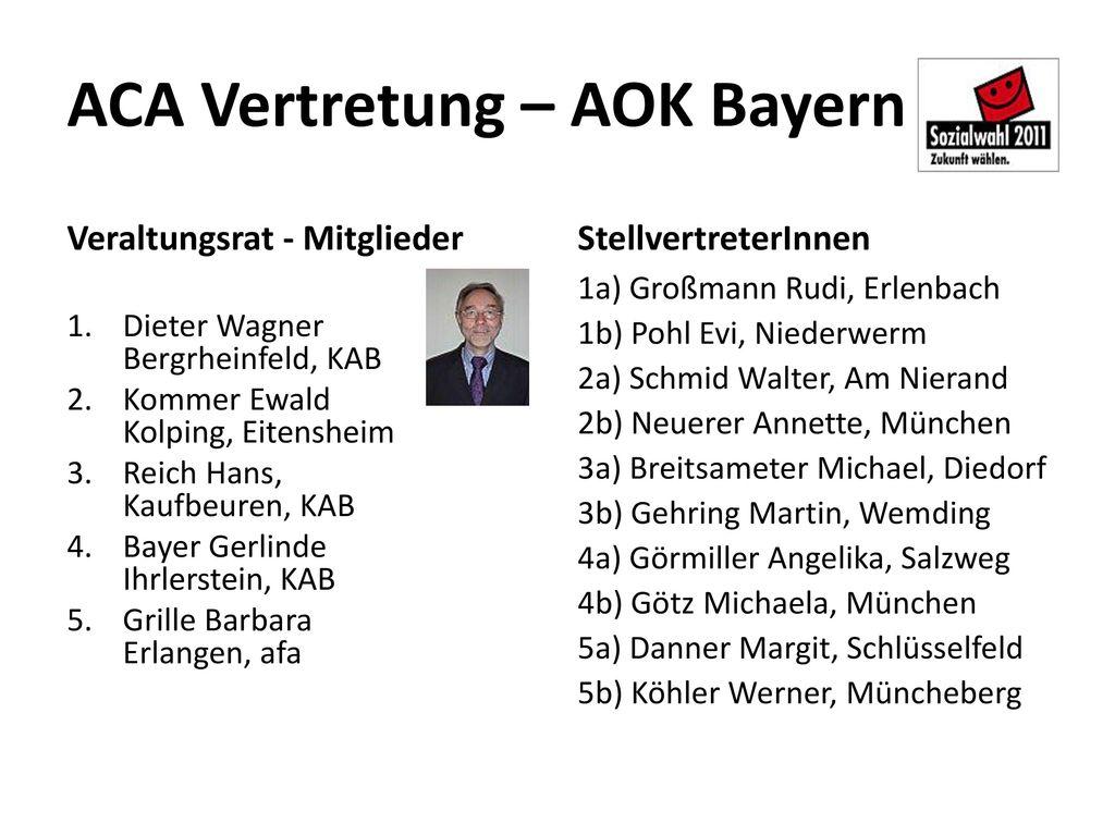 ACA Vertretung – AOK Bayern