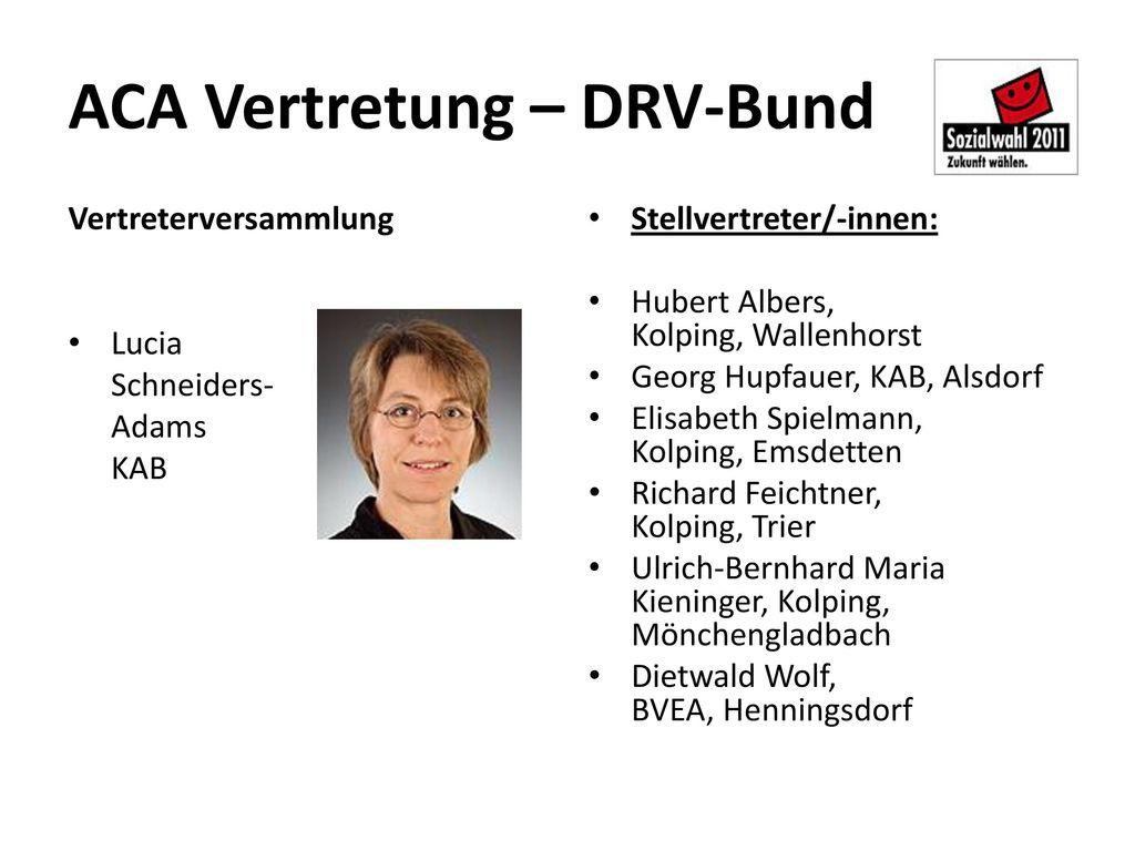 ACA Vertretung – DRV-Bund