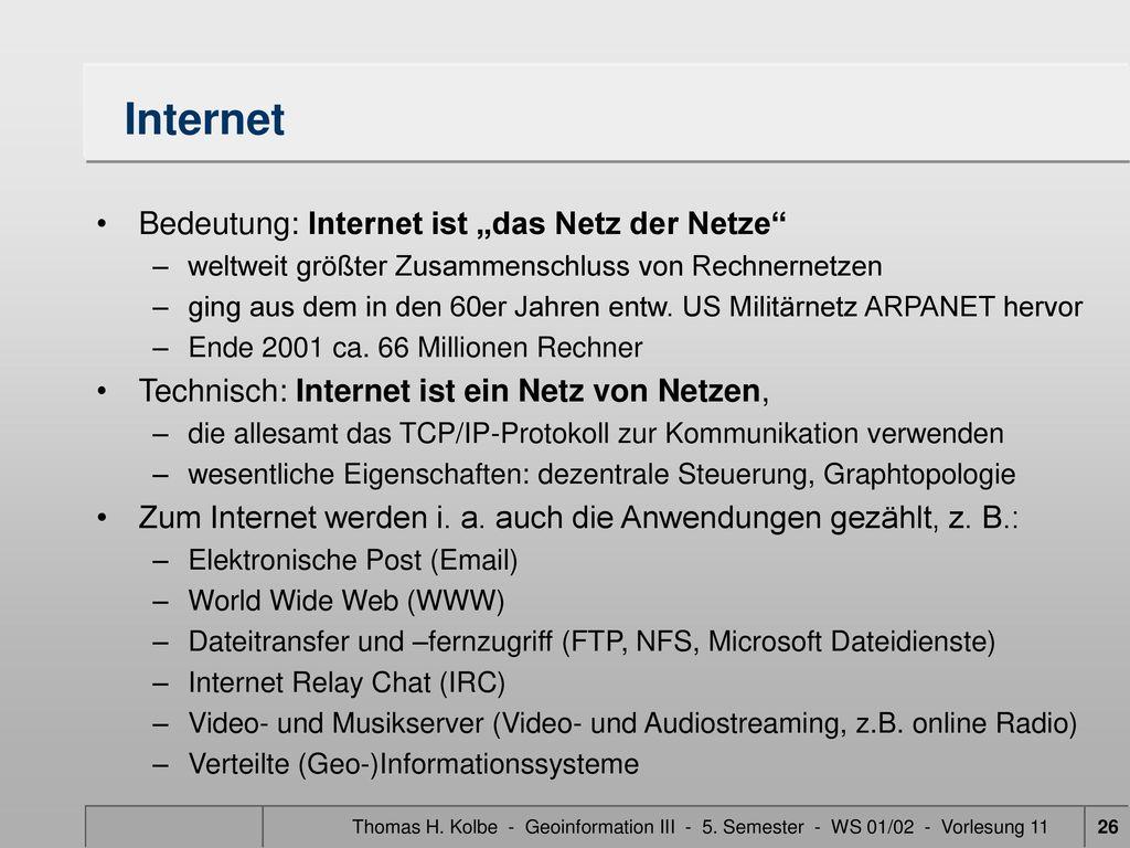 """Internet Bedeutung: Internet ist """"das Netz der Netze"""