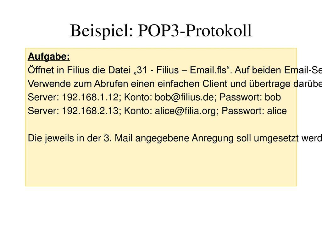 Beispiel: POP3-Protokoll