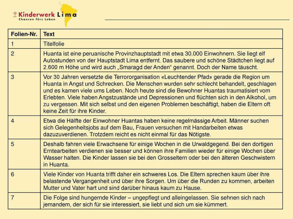 Folien-Nr. Text. 1. Titelfolie. 2.