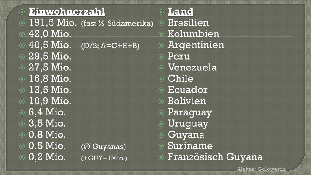 Französisch Guyana (F/8) 84 Tsd. km2