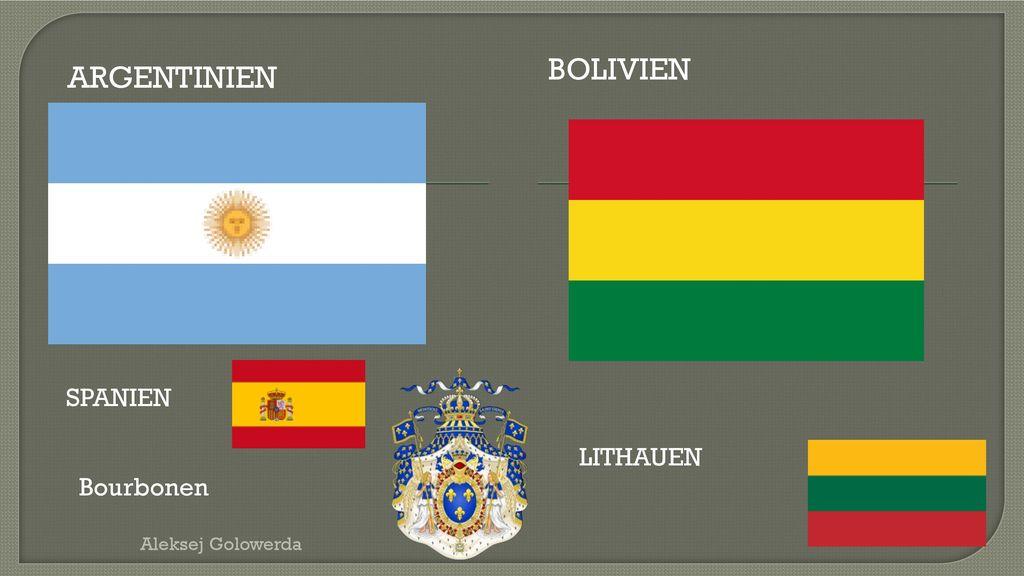 Unabhängigkeitsjahr Land 1809 (Spanien) Ecuador 1810/19 (Spanien)