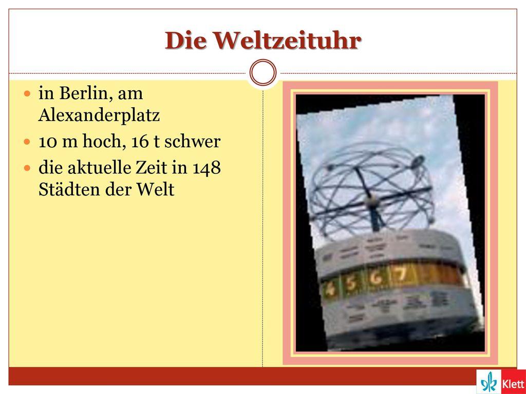 Die Weltzeituhr in Berlin, am Alexanderplatz 10 m hoch, 16 t schwer