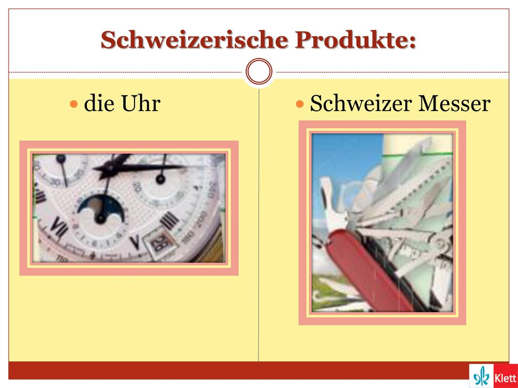 Schweizerische Produkte: