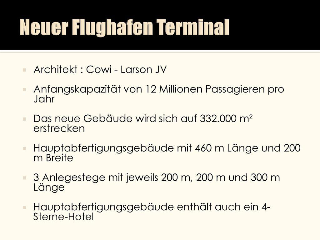 Neuer Flughafen Terminal