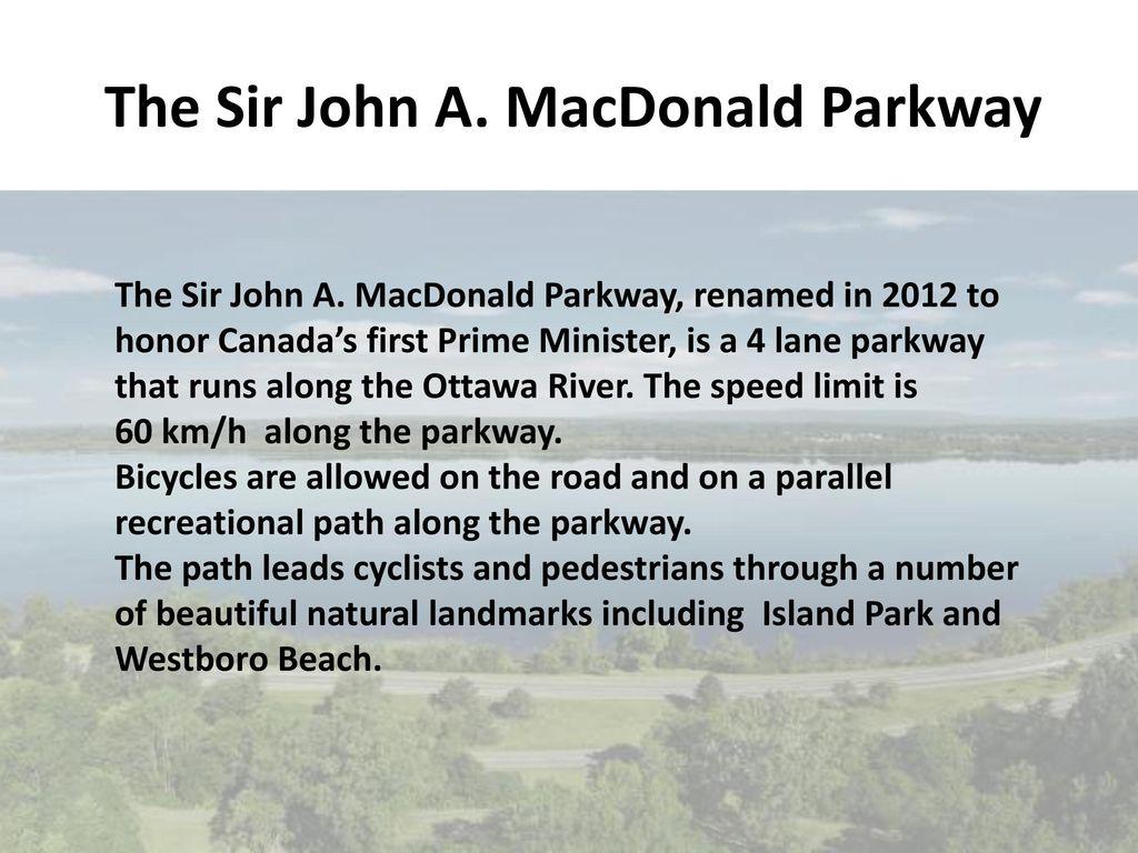 The Sir John A. MacDonald Parkway