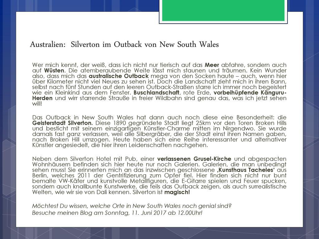 Australien: Silverton im Outback von New South Wales
