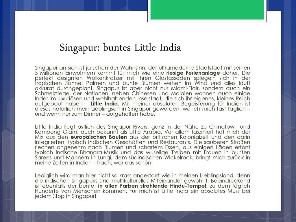 Singapur: buntes Little India