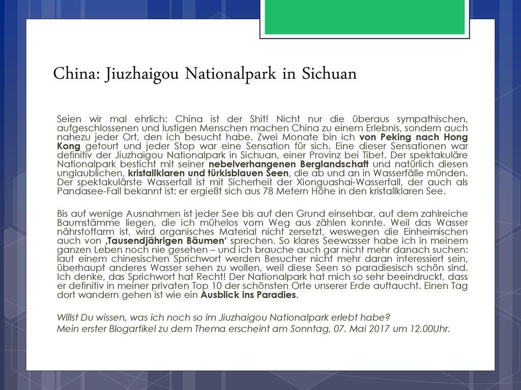 China: Jiuzhaigou Nationalpark in Sichuan