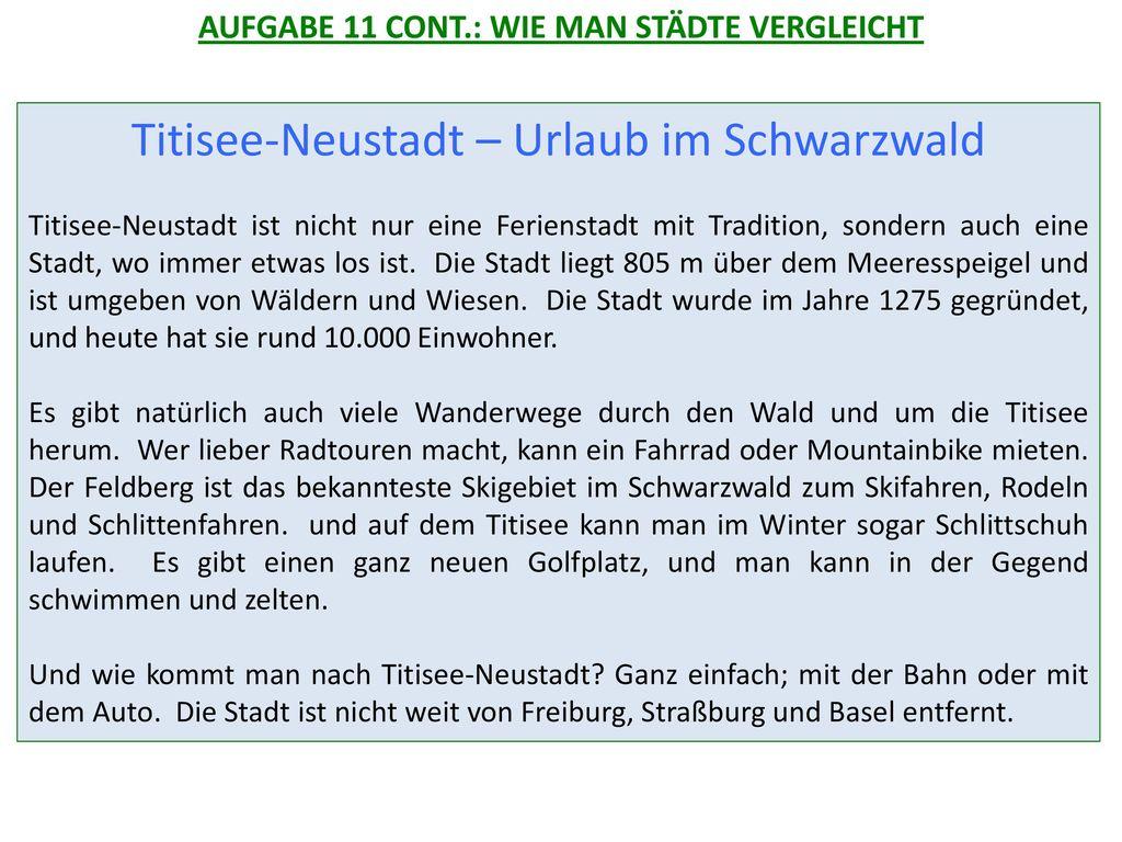 Titisee-Neustadt – Urlaub im Schwarzwald