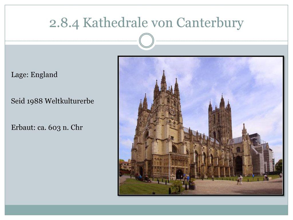 2.8.4 Kathedrale von Canterbury