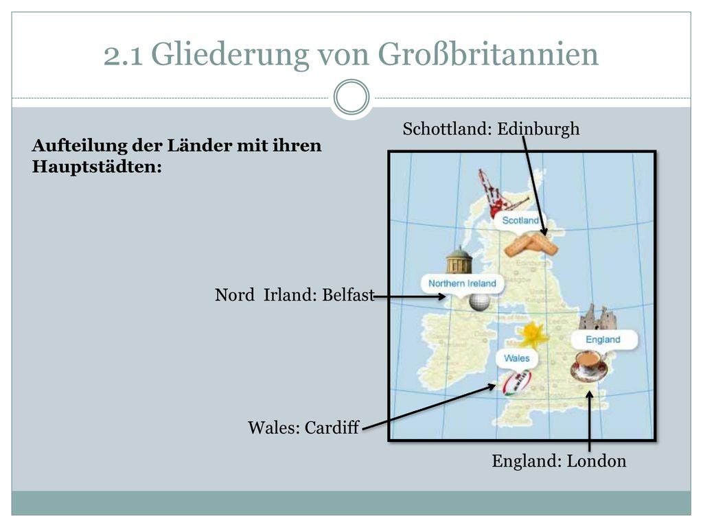2.1 Gliederung von Großbritannien