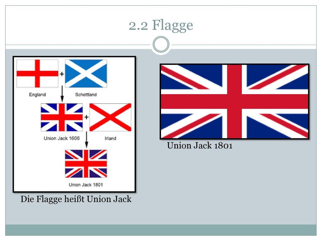 2.2 Flagge Die Flagge heißt Union Jack Union Jack 1801