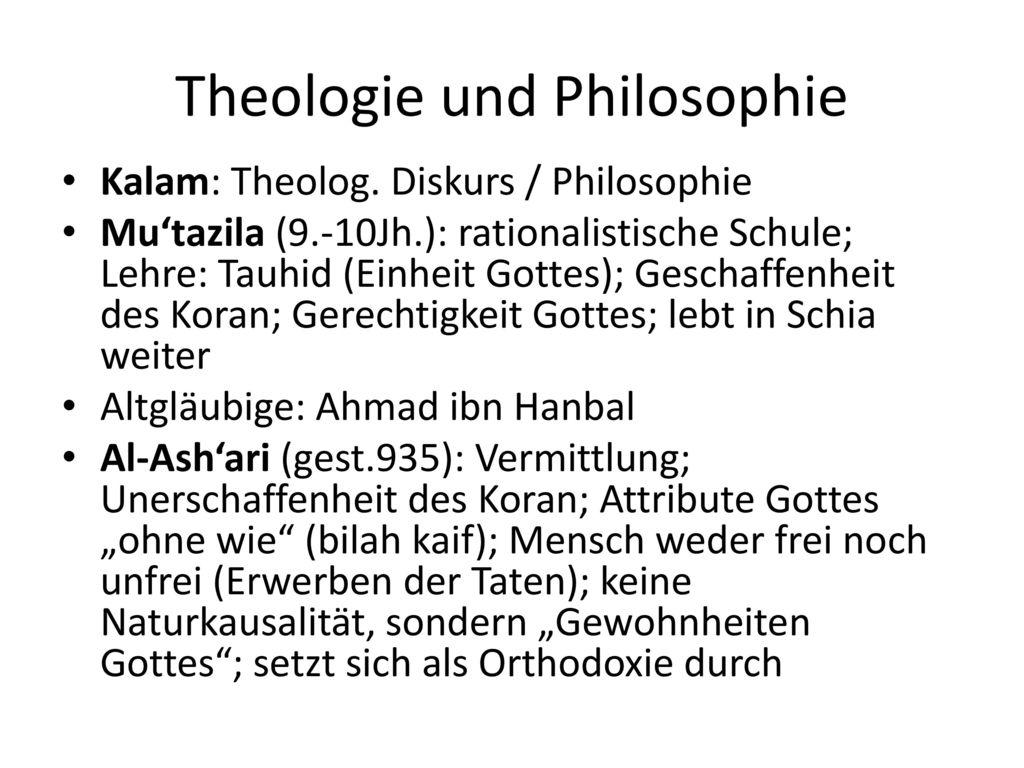Theologie und Philosophie