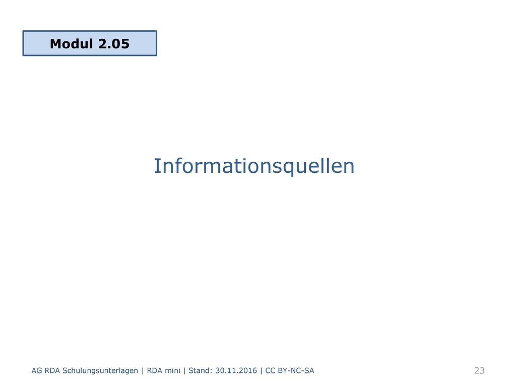Informationsquellen Modul 2.05