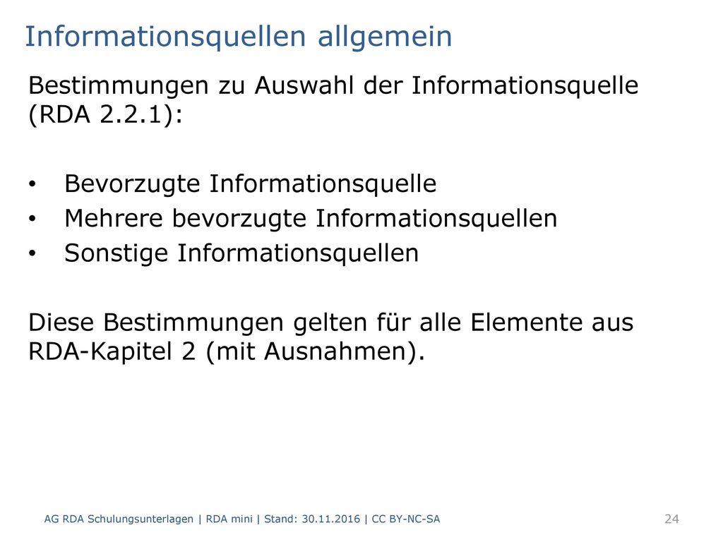 Informationsquellen allgemein