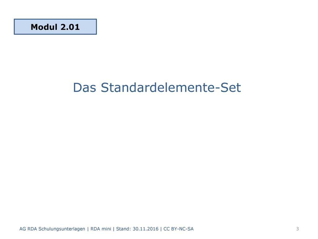 Das Standardelemente-Set