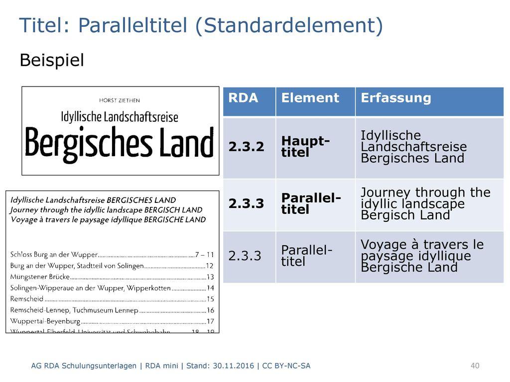 Titel: Paralleltitel (Standardelement)