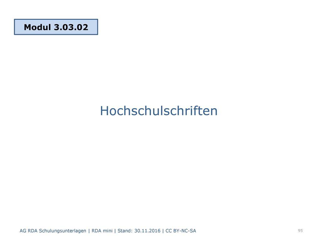 Hochschulschriften Modul 3.03.02