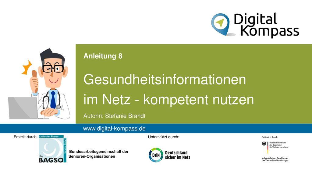 Gesundheitsinformationen im Netz - kompetent nutzen