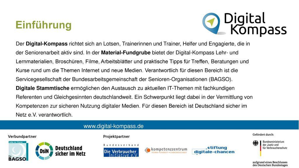 Einführung www.digital-kompass.de