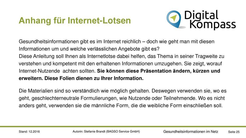 Anhang für Internet-Lotsen