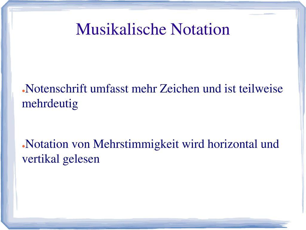Musikalische Notation