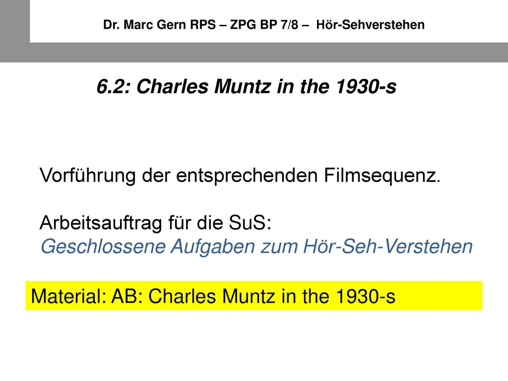 6.2: Charles Muntz in the 1930-s
