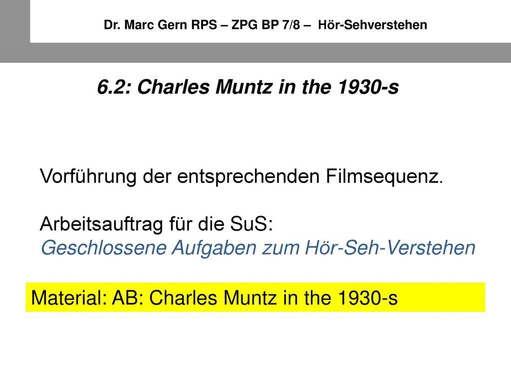 6.2: Charles Muntz in the 1930-s