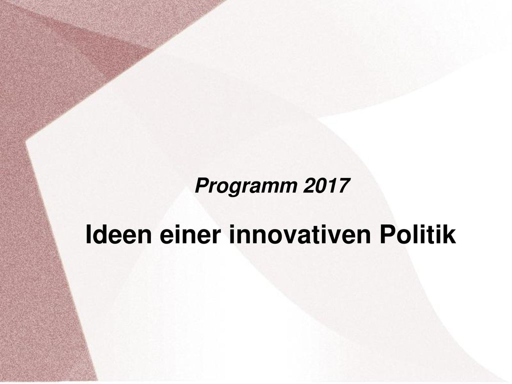 Ideen einer innovativen Politik