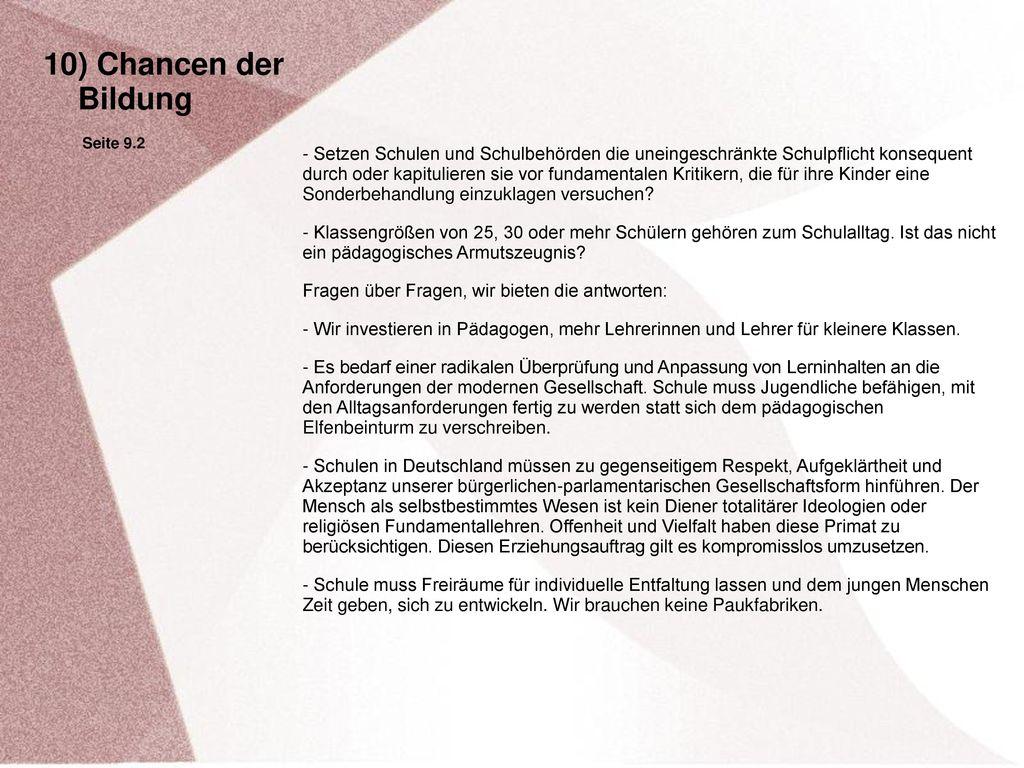 10) Chancen der Bildung. Seite 9.2.