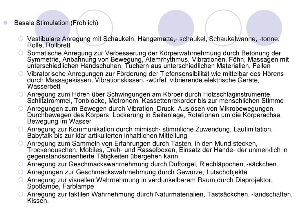 Basale Stimulation (Fröhlich)