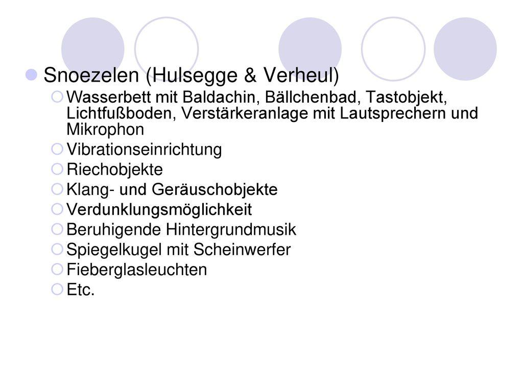 Snoezelen (Hulsegge & Verheul)