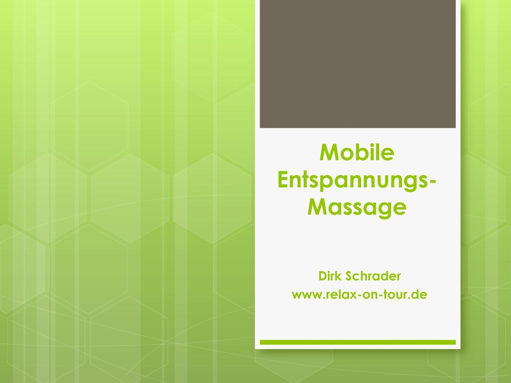 Mobile Entspannungs-Massage