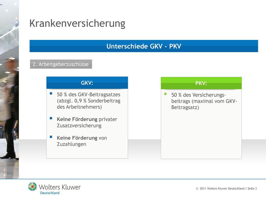 Krankenversicherung Unterschiede GKV - PKV GKV: PKV: