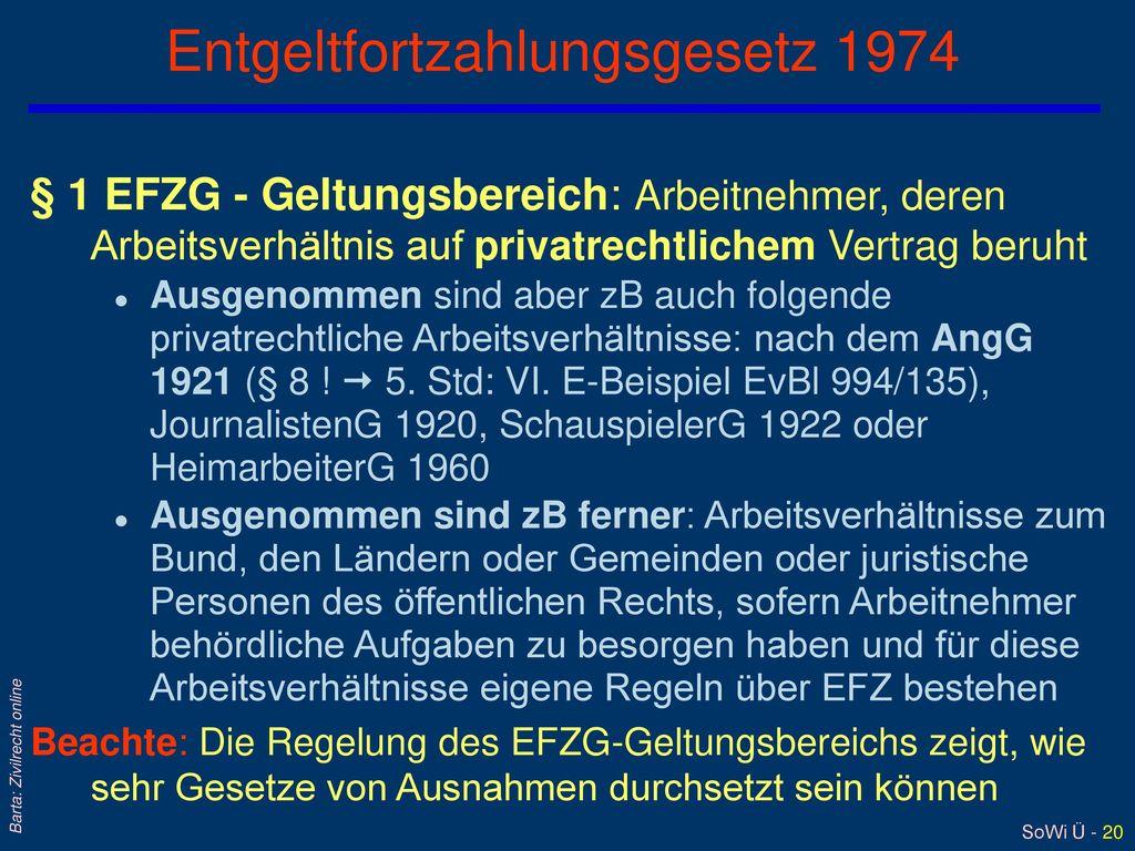 Entgeltfortzahlungsgesetz 1974