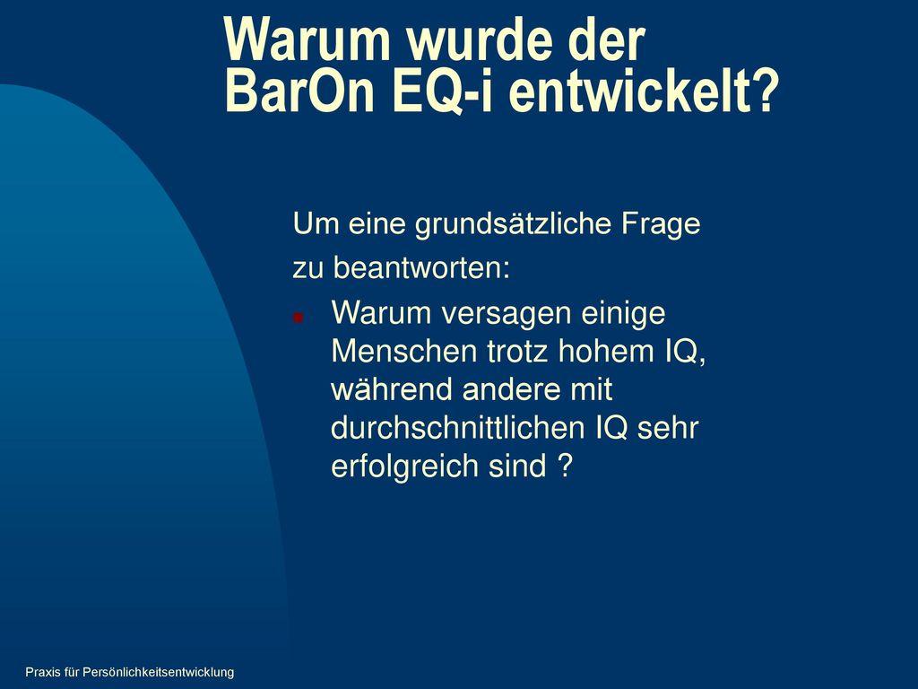 Warum wurde der BarOn EQ-i entwickelt