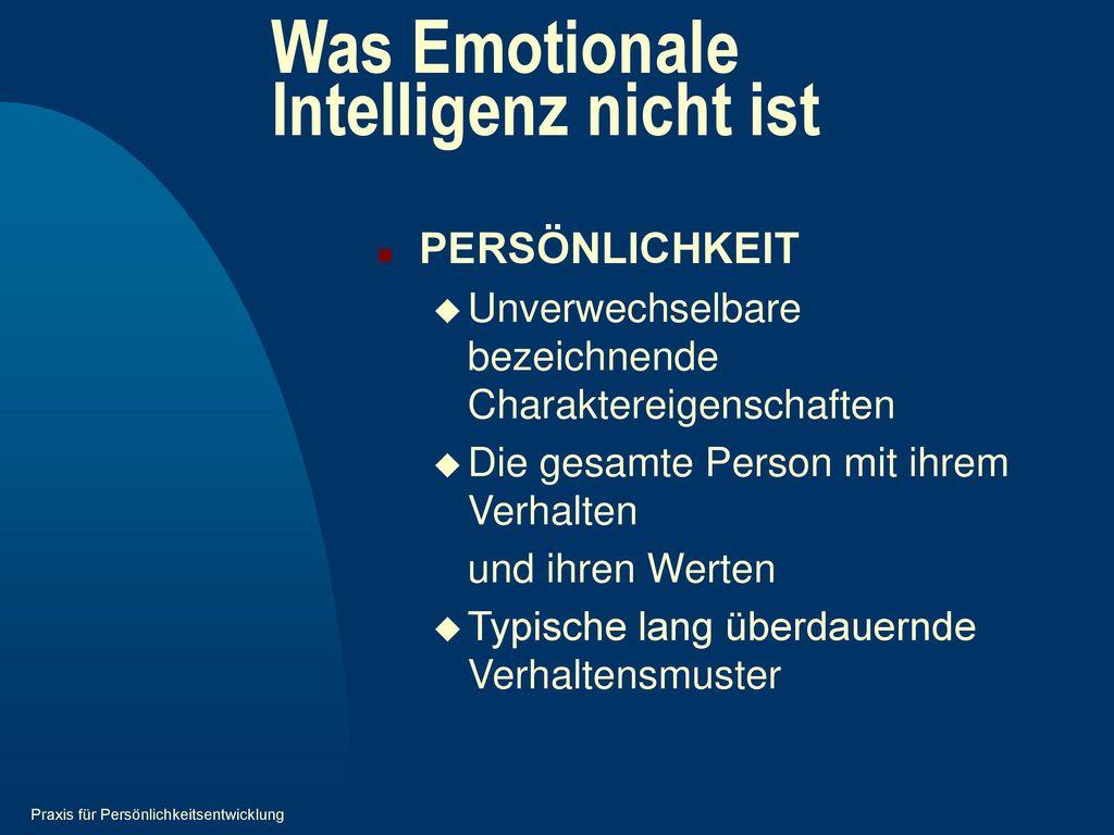 Was Emotionale Intelligenz nicht ist