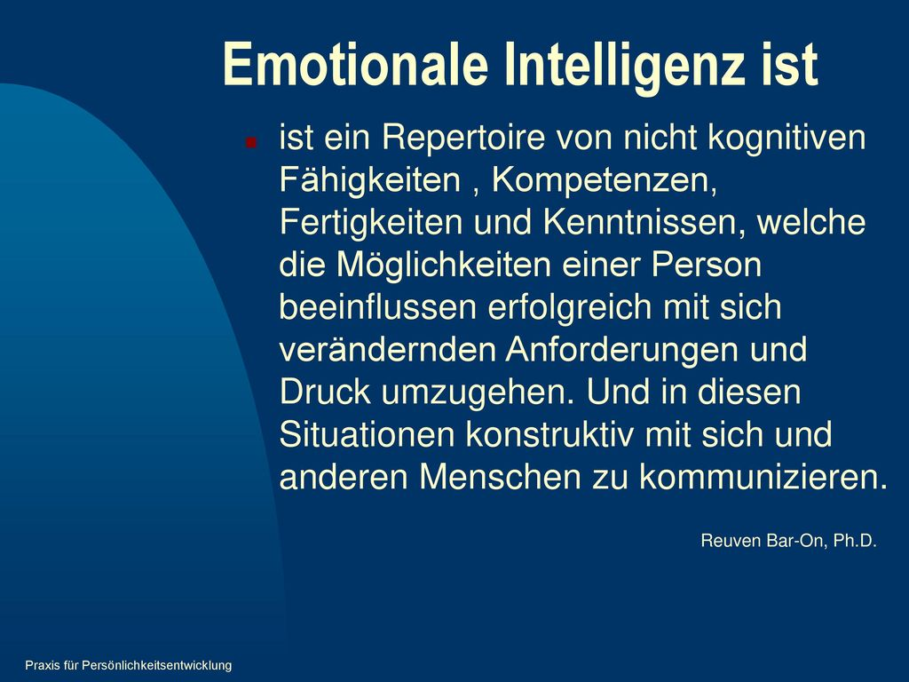 Emotionale Intelligenz ist