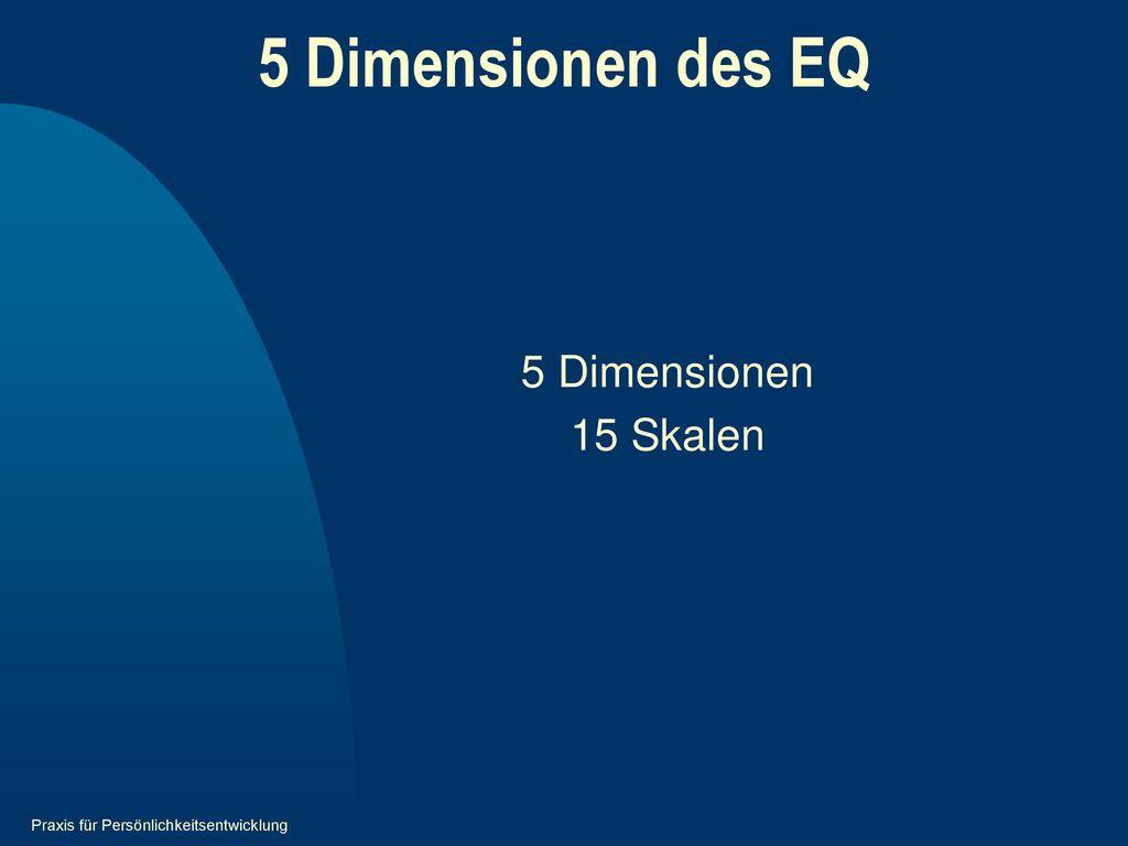 5 Dimensionen des EQ 5 Dimensionen 15 Skalen